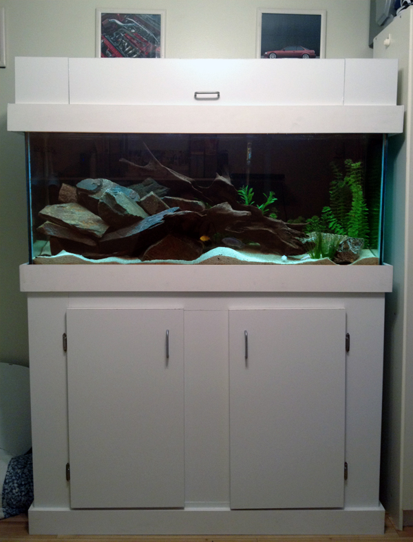 White Aquarium Stand And Canopy Amp Aqua Wood Grande Crown